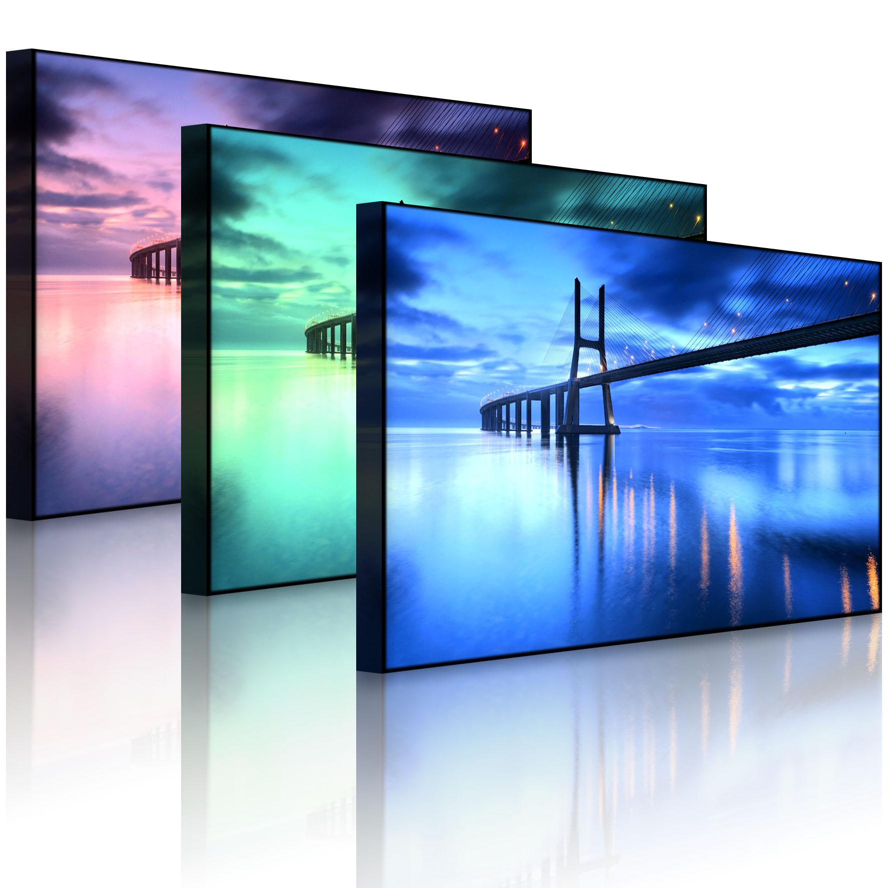 leuchtbild led bild gew ltige br cke ponte vasco da. Black Bedroom Furniture Sets. Home Design Ideas