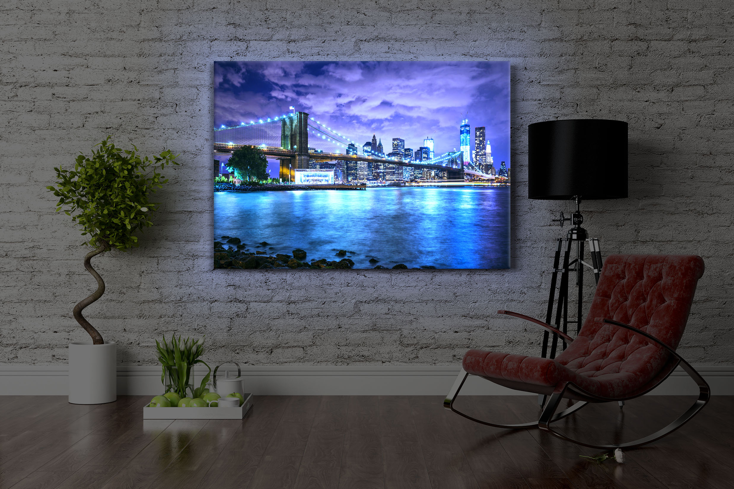 Led Bild New York Skyline