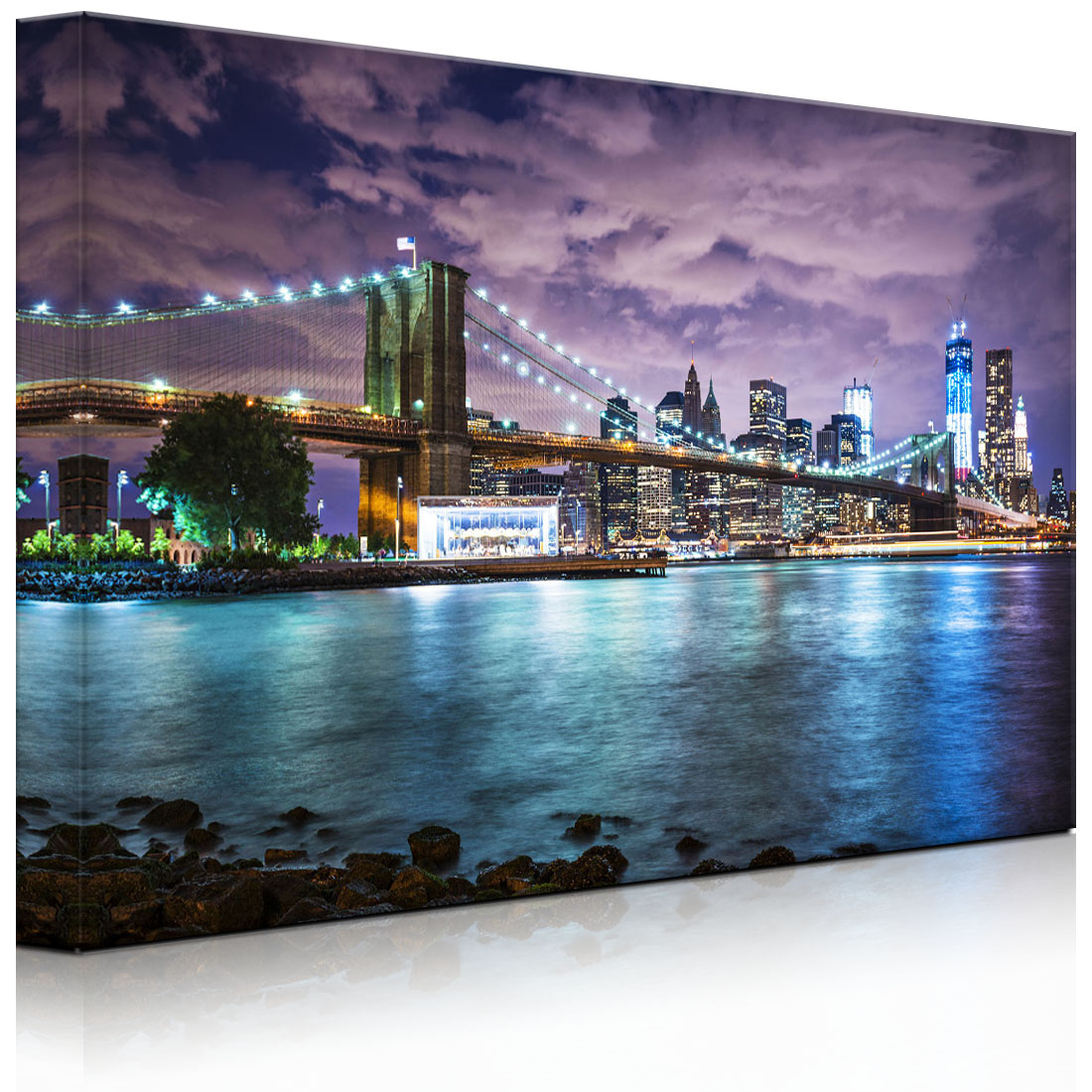 tableau illumin image led skyline de new york fully lighted ebay. Black Bedroom Furniture Sets. Home Design Ideas